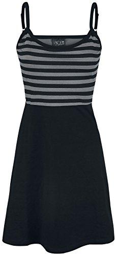Pussy Deluxe Pretty Stripes Dress Kleid Schwarz/Grau S