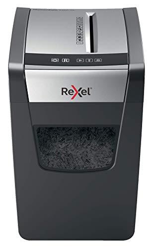 Distruggidocumenti Rexel Momentum X410-SL Slimline, Distrugge fino a 10 Fogli, Cestino da 23 L, Nero, 2104573