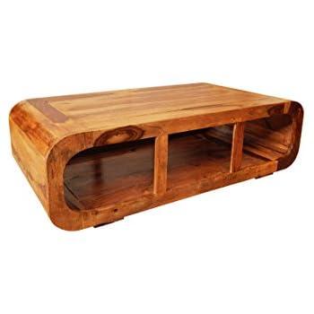 MAADES Wohnzimmertisch Couchtisch aus Holz massiv Elexa 110cm ...