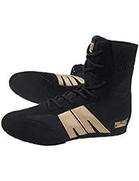 on sale 0af7a 878ea Pro Box Adult Boxing Boots - Black Gold Senior 7UK - 14UK