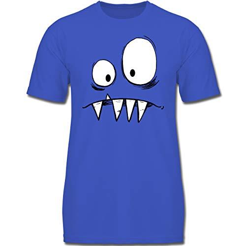 Karneval & Fasching Kinder - Monster Kostüm - 128 (7-8 Jahre) - Royalblau - F130K - Jungen Kinder - Herren Monster Kostüm