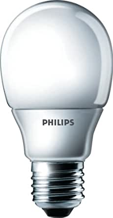 Philips 929689332302 Ampoule Fluo-compacte Standard - Culot E27 - 8 Watts consommés - Equivalence incandescence :  40W