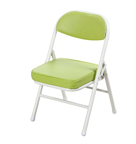 ZHJDD Kinderstuhl Portable Baby Stuhl Metall Sessel Klappstuhl Kind Lernen Kleiner Stuhl Klappstuhl (Farbe : Grün)