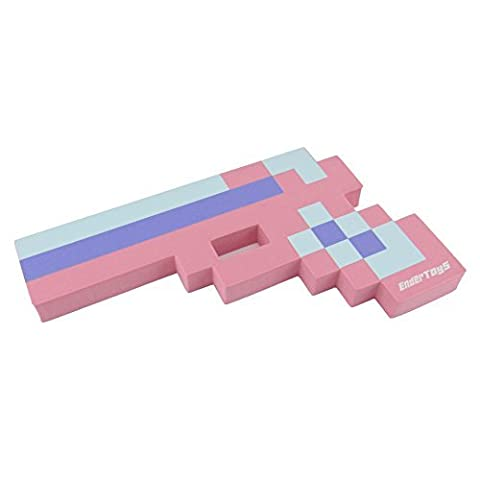 8 Bit Pixelated Princess Pink Foam Gun Toy 10
