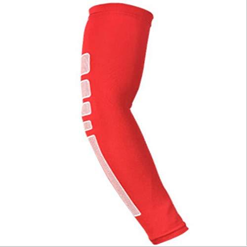 Hulifang Sport-Armschutz, Sport-Schutzausrüstung Schutzhüllen Atmungsaktiver Ellbogenschutz Armbänder Basketball Tennis Badminton Reiten Taekwondo Outdoor Sports (Size : L)