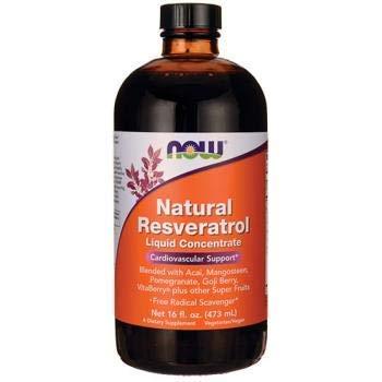 Natürliche Resveratrol, flüssiges Konzentrat, 16 Flüssigunzen (473 ml) - Now Foods -