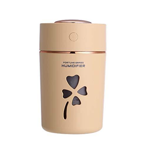 SUNLMG humidificador/purificador de Aire USB/Tres-en-un humidificador de luz de Noche Colorido para bebé Dormitorio/Apagado automático,Yellow