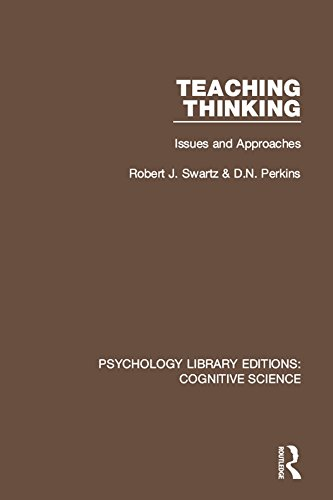 Ebooks Teaching Thinking: Issues and Approaches (Psychology Library Editions: Cognitive Science) Descargar PDF
