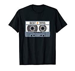 27 Years Old, Made in 1993, Vintage 27th Birthday Cassette T-Shirt