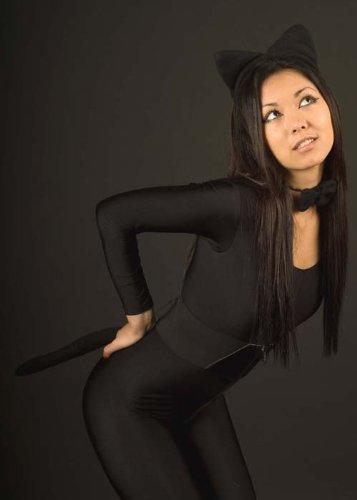 Schwarze Katze Kostüm Zubehör (Kitty Kostüme Kit)