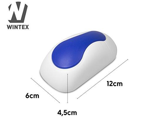 WINTEX Tafelwischer / Magnetischer Wischer (Premiumqualität) in weiß/blau zur Trockenreinigung für Whiteboards, Flipcharts, Magnettafeln, Planungstafeln und Kreidetafeln | mit 2 Jahren Zufriedenheitsgarantie - PRODUKTUPDATE: verbesserte Version -