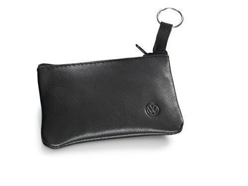Volkswagen 000087402A Original VW Schlüsselmäppchen Schlüsseltasche Schlüsseletui Leder schwarz