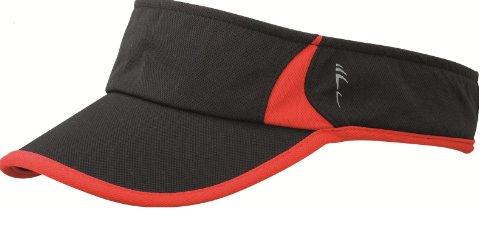 premium-sports-sun-visor-running-tennis-golf-cap-hat-12-colours-mb6545-black-red