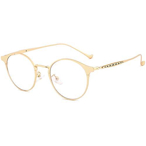 métal cadre léger Progressif Anti lumière Bleu lunettes de Lecture Transparent objectif or