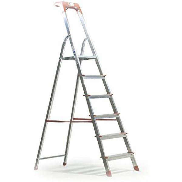 Scala domestica a libretto 5 gradini in alluminio portata 100kg alu step up 131