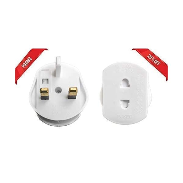ampTECH Shaver & Electric Toothbrush Charger Converter Adapter Plug – UK 2 Pin To 3 Pin 1A Fuse Adaptor Plug- Single Bathroom Socket Converter Plug 31pYu1G31WL