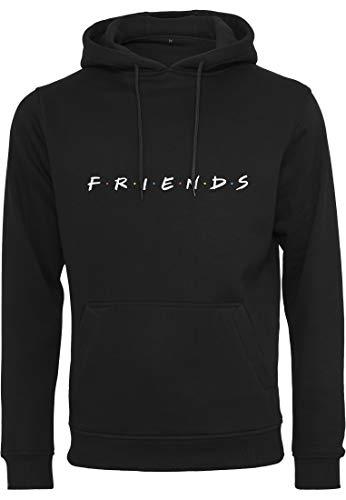MERCHCODE Herren Friends Logo EMB Hoody Kapuzenpullover Black M