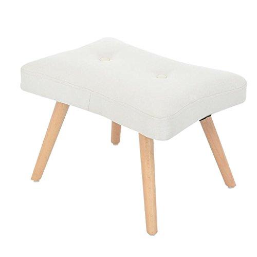 YYdy-Polsterhocker Holz gepolstert Ottoman Change Schuhe Hocker Fußhocker Fußstütze klein Sitz Fußstütze Stuhl geeignet für Wohnzimmer Schlafzimmer (Farbe : H)