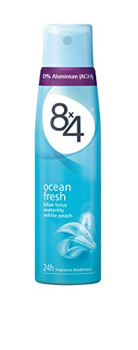 8x4 Deo Ocean Fresh Spray, ohne Aluminium, 3er Pack (3 x 150 ml)