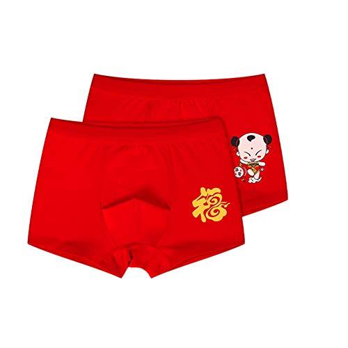 Shiningbaby Baby Mädchen Slip Sortiert Kinckers Kid Chinesische Rote Unterwäsche 2 Teile/Satz für Alter 9-14 Jahre alt Bloomers Boyshort