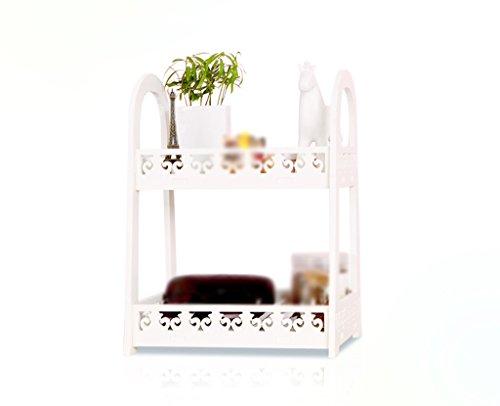 DFHHG® Librería Libro Stand Almacenamiento Rack 29 * 39.5 * 21.5 Cm 1kg Escritorio Blanco Oficina Dormitorio durable