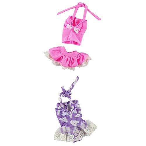 Puppenkleidung Einteiliger Badeanzug Bademode Badebekleidunge Puppe Sommer Outfit ()