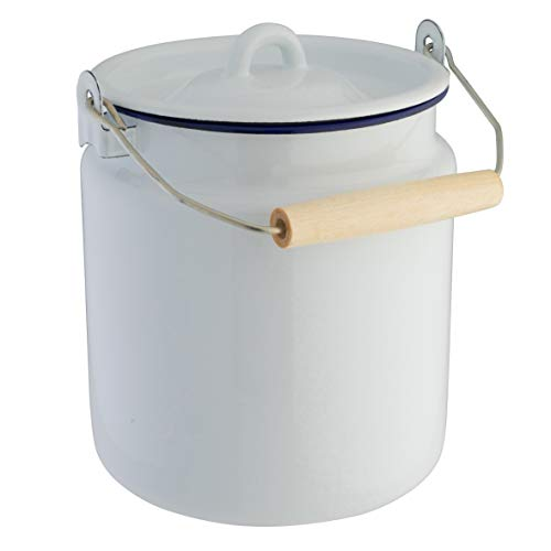 axentia emaillierte Milchkanne aus Stahl, Ø ca. 16 cm, Höhe ca. 20,5 cm, 3 ,5 l -