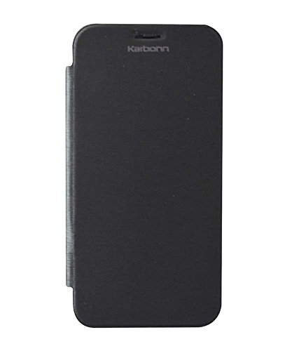 Karbonn Titanium S9 Flip Cover - Black  available at amazon for Rs.249
