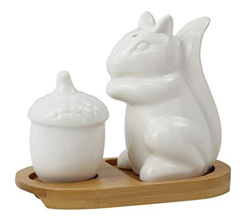 Royal White Salt (Salz- und Pfefferstreuer-Set Eichhörnchen und Nuss)