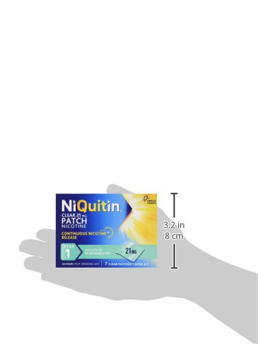 NiQuitin Clear 24 Hour 7 Patches Step 1, 21mg – 1 Week Kit