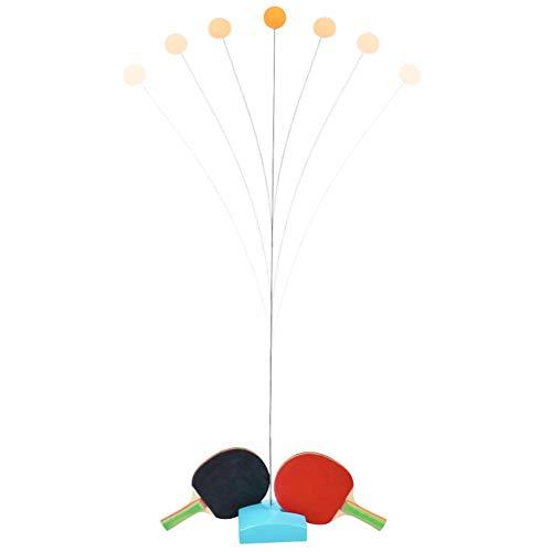 Tischtennisschlägerset, Pingpong-Paddel mit 2 Schlägern, 4 Bällen und Halter-Roboter Automatik für verschiedene Spinbälle Selbsttraining