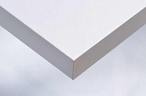 Premium Klebe Folie Holz Optik J14 - WEISSES HOLZ Deko Möbelfolie selbstklebend Struktur 122cm Breite (Holz Folie Weiß)