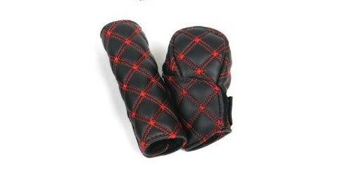 ewinever(R) 1 Set Manual Shift Knob Gear Stick Hand Brake Covers (Red Thread)