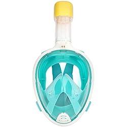 Areyourshop Masque de plongée intégral avec tuba pour GoPro, Vert, L