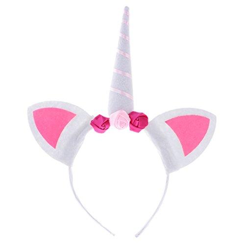 Dress Fancy Kostüm Kinder Parteien - Gazechimp Einhorn Horn Stirnband Fancy Dress Erwachsene Mädchen Party Geschenk - Rosa