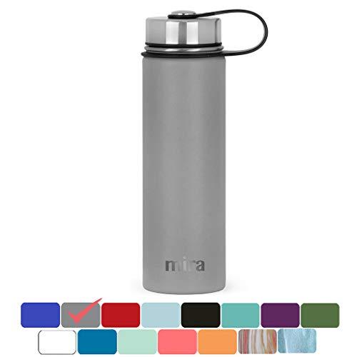MIRA vakuumisolierte Weithals-Wasserflasche aus Edelstahl | Thermosflasche...