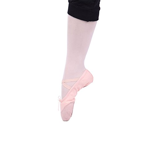 Mintice™ Bauchtanz Gymnastik Schuhe Ballettschuhe Ballerina Balletschläppchen Jazz Karneval Tanzschuhe Pink
