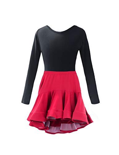 Kostüm Kinder Lyrische - Mädchen Latein Tanz Sets Kleid - Bühnenanzug Trikot Rock Anzug Dancewear Kostüm Lyrisch (140CM)