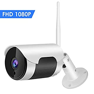 Outdoor Security Camera WiFi 1080P Waterproof Wireless IP Cameras Home Surveillance System IR Night Vision,Remote Viewing, Motion Detection and Push Alerts Accfly