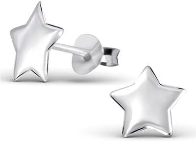 Laimons - Pendientes con forma de estrella para mujer - Plata de ley 925