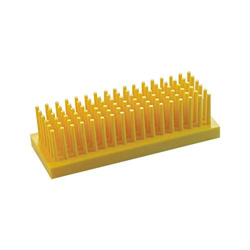 Tansoole - Stütze Reagenzglasständer Reagenzglashalter Labor-Gefäßständer, Gelb Zwei Verwendungszwecke, maxi Rohrdurchmesser 16mm
