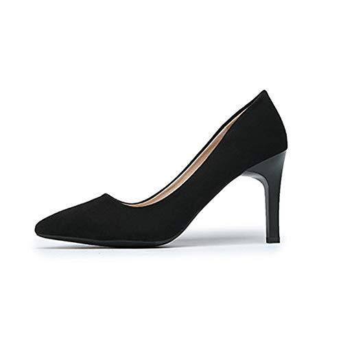 Frauen wies Toe High Heels Büro Karriere hochhackige Slipper auf Pumps Pumps atmungsaktive Stilettos - Ankle-wrap Patent Pump