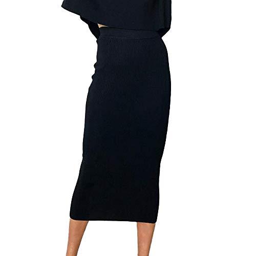 Damen Röcke, BaZhaHei Mode Frauen Gestreifter Maxi-Rock mit hoher Taille Boho Tanz-Kleid Schwarz-Weiß-Streifen asymmetrische gestreiften Falten über Stretch Lange Maxi Rock