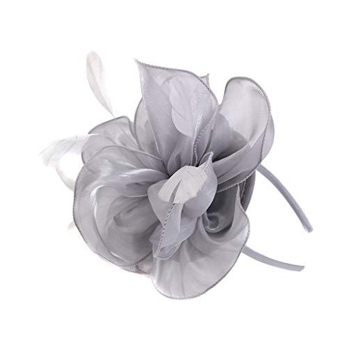 AMUSTER Feder Stirnband 20er Jahre Stil Flapper Satin Haarband Great Gatsby Stirnband Damen Kostüm Accessoires