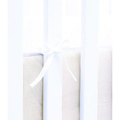 Hoppekids Bettumrandung Seitenschutz Bettnestchen für Wiege, Stoff, sand/weiß, Single, 20 x 240 cm