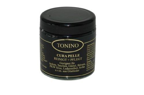 Tonino Cura Pelle- Reinigung + Pflege für Taschen, Jacken, Ledermöbel (Schwarz)