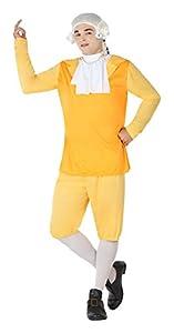 Atosa- Disfraz cortesano de época, Color Amarillo, M-L (5033)