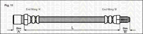 Triscan 815015216 Bremsschlauch hinten