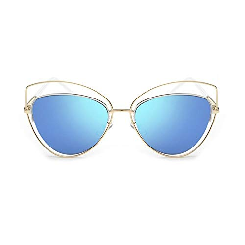 MoHHoM Sonnenbrille Übergroße Spiegel Rosa Sonnenbrille Cat Eye Vintage Sonnenbrille Frauen Weibliche Schattierungen Lady Sonnenbrille Großhandel Gold Blau