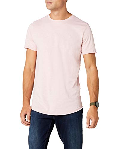 JACK & JONES Herren Jorworld Tee Ss Crew Neck T-Shirt, Rosa, Medium -